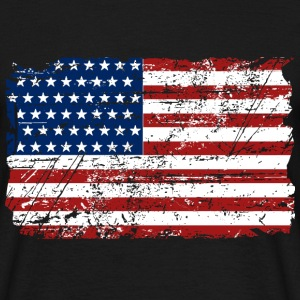 USA Flag - Vintage Look T-shirts - T-shirt herr