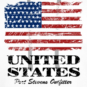 USA Flag - Vintage Look Sweat-shirts - Sweat-shirt à capuche Premium pour hommes
