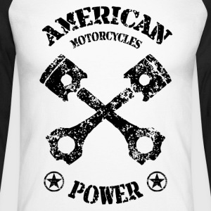 american motorcycles power 01 Manches longues - T-shirt baseball manches longues Homme