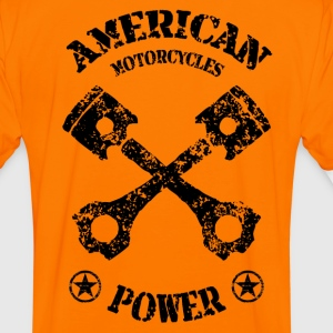 american motorcycles power 01 T-Shirts - Men's Ringer Shirt