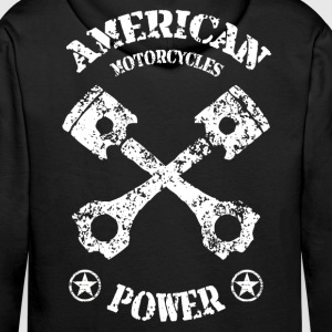 American motorcycles power 02 Hoodies & Sweatshirts - Men's Premium Hoodie