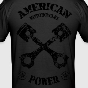 american motorcycles power 01 T-Shirts - Men's Slim Fit T-Shirt