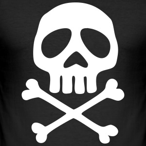 Skull and crossbones, pirate, anime, space captain T-Shirts - Men's Slim Fit T-Shirt