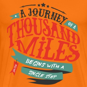 Orange A journey of thousand miles T-shirts - Premium-T-shirt herr
