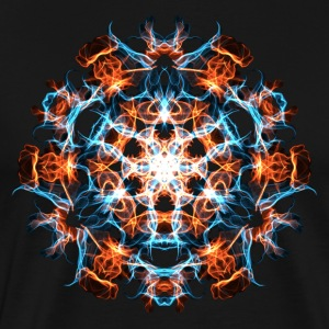 Power Symbol, Fractal, Energy, Hero, Superhero T-S - Men's Premium T-Shirt