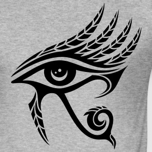Horus Eye, feathers, Egypt, Spirituality, Symbols - Men's Slim Fit T-Shirt