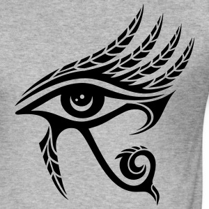 Horus Eye, feather, Egypt, Spirituality, Symbol T-Shirts - Men's Slim Fit T-Shirt