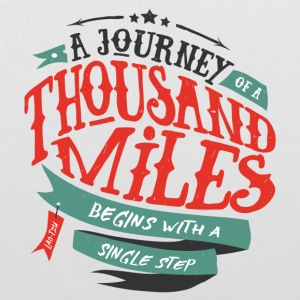 White A journey of thousand miles Bags & Backpacks - Tote Bag