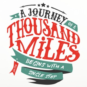 White A journey of thousand miles Mugs & Drinkware - Coasters (set of 4)