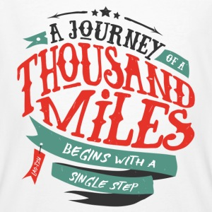 Bianco A journey of thousand miles Magliette - T-shirt ecologica da uomo