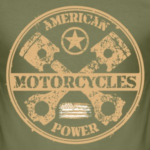 american motorcycles power 04 T-Shirts - Men's Slim Fit T-Shirt