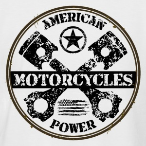 american motorcycles power 03 T-Shirts - Men's Baseball T-Shirt