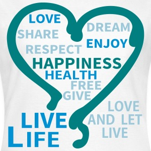 Happiness Respect Dream Heart T-shirts - Dame-T-shirt