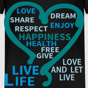 Happiness Respect Dream Heart T-shirts - Premium-T-shirt barn