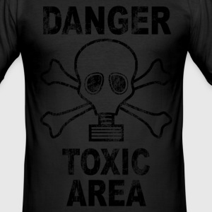 Danger toxic area T-Shirts - Men's Slim Fit T-Shirt
