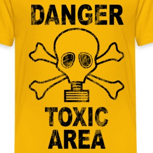 Danger toxic area Shirts - Teenage Premium T-Shirt