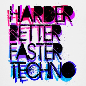 Harder Better Techno - Teenage Premium T-Shirt