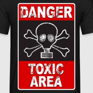 Danger toxic area 02 Tee shirts - T-shirt Homme
