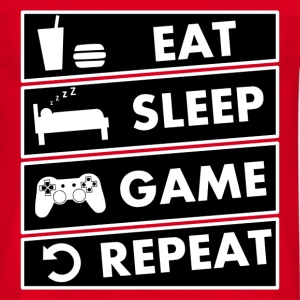 eat sleep game repeat Tee shirts - T-shirt Homme