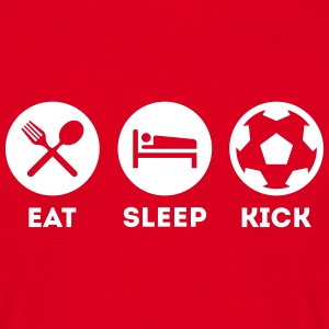 EAT SLEEP KICK FUSSBALL SOCCER T-Shirts - Männer T-Shirt