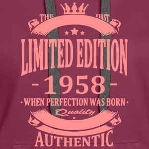 Limited Edition 1958 Sweat-shirts - Sweat-shirt à capuche Premium pour femmes