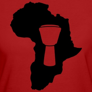 Djembe in Afrika Bio-Shirt (Damen) - Frauen Bio-T-Shirt