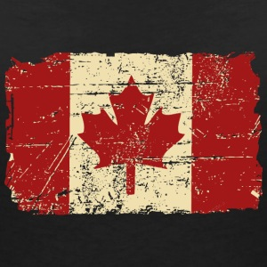 Canada Flag - Vintage Look Tee shirts - T-shirt col V Femme