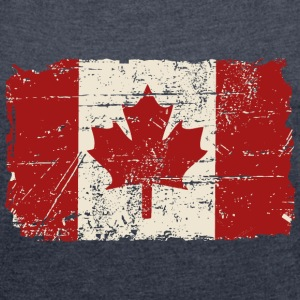 Canada Flag - Vintage Look T-Shirts - Women's T-shirt with rolled up sleeves