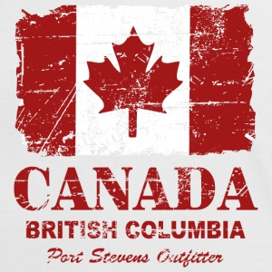 Canada Flag - Vintage Look T-Shirts - Women's Ringer T-Shirt