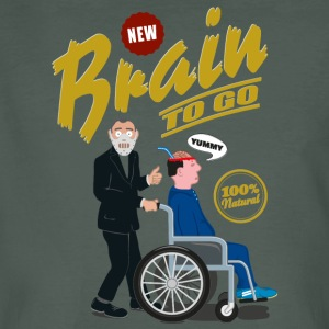 Brain to go - 100% Bio - Männer Bio-T-Shirt