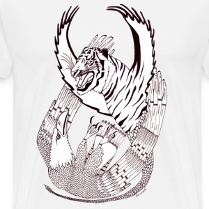 Giant Eagle versus flying Tiger T-shirts - Mannen Premium T-shirt