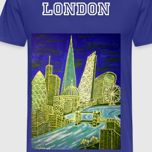 Mens abstract London skyline t-shirt - Men's Premium T-Shirt