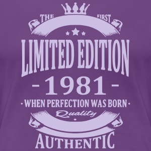 Limited Edition 1981 T-shirts - Dame premium T-shirt