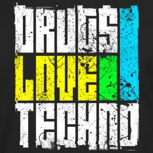 Drugs Love Techno - Men's Premium Longsleeve Shirt