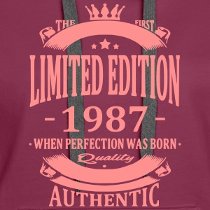 Limited Edition 1987 Hoodies & Sweatshirts - Women's Premium Hoodie