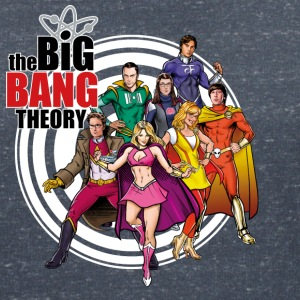 The Big Bang Theory Bazinga Comic Group Dam T-Shir - T-shirt med v-ringning dam