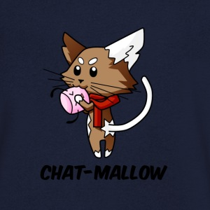 T-shirt homme Chat-Mallow  - T-shirt Homme col V