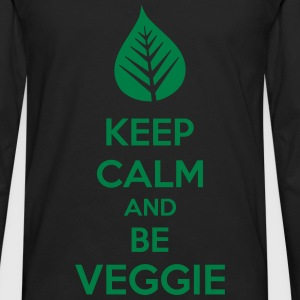 Keep Calm And Be Veggie Manga larga - Camiseta de manga larga premium hombre