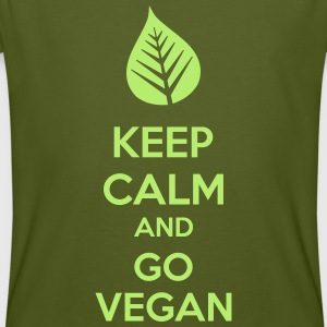 Keep Calm And Go Vegan T-shirts - Mannen Bio-T-shirt