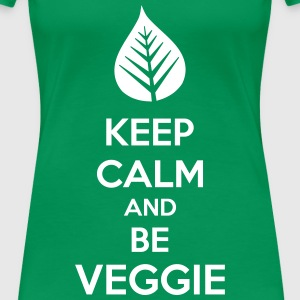 Keep Calm And Be Veggie Magliette - Maglietta Premium da donna