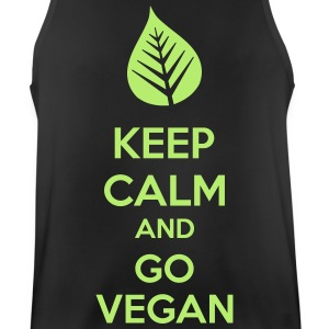 Keep Calm And Go Vegan Vêtements de sport - Débardeur respirant Homme