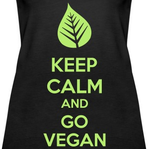 Keep Calm And Go Vegan Topper - Premium singlet for kvinner