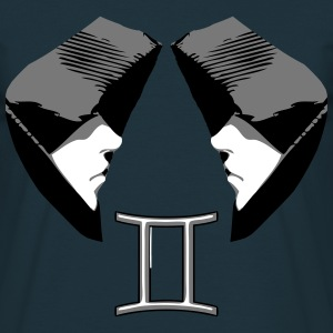 Gemini Horoscoop Tweelingen droevig pictogram T-shirts - Mannen T-shirt