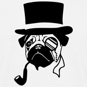 Mister Mops - Sir Pug T-Shirts - Men's T-Shirt