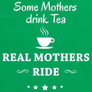 Some Mothers drink Tea-- ride T-shirts - Kontrast-T-shirt dam