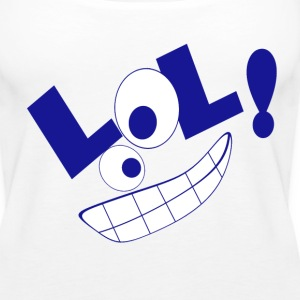 LOL blau Tops - Frauen Premium Tank Top