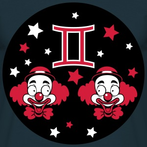 Gemini Horoscoop Tweelingen clowns T-shirts - Mannen T-shirt