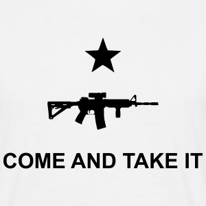 Come and take it flag AR15 - Men's T-Shirt