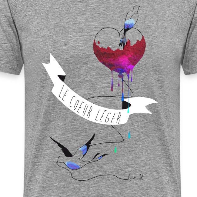 Le coeur Léger (T-shirt Homme)
