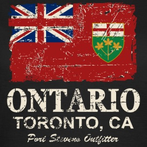Ontario Flag - Canada - Vintage Look Tee shirts - T-shirt Femme